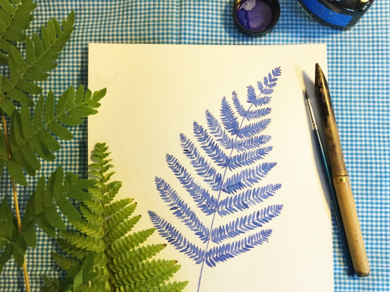 leaf-drawing