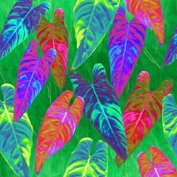 bright jungle leaves blog